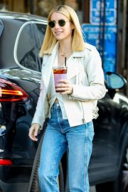 Emma Roberts - Leaves Alfred's Coffee in Los Angeles