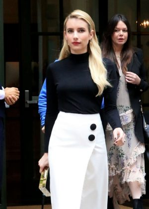 Emma Roberts - Leaves her hotel in New York