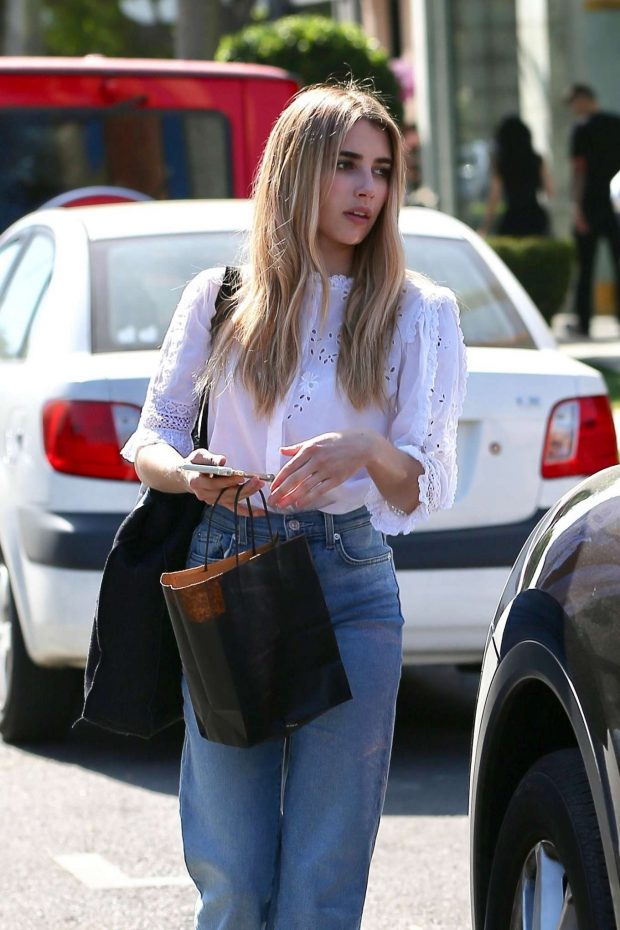 Emma Roberts - Leaves Nine Zero One Salon in West Hollywood