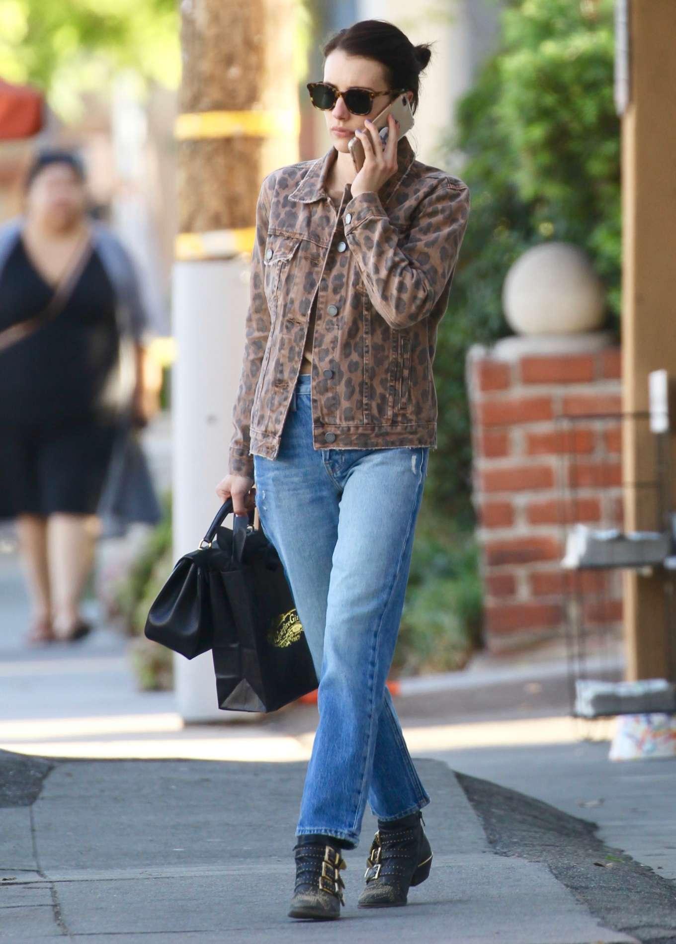 Emma Roberts - Leaves Spitfire Girl Giftshop in Los Feliz