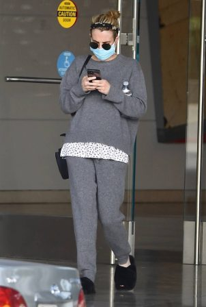 Emma Roberts - leaving a meeting in Century City