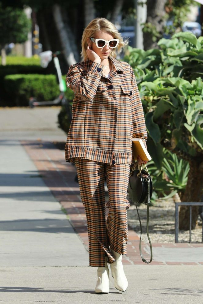 Emma Roberts - Leaving a salon in Los Angeles