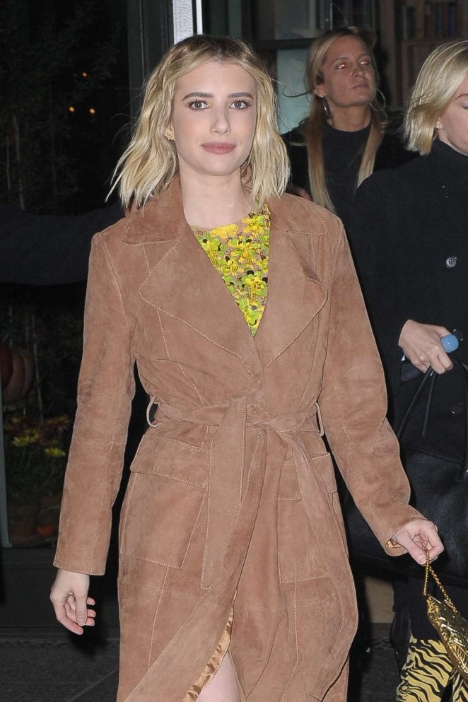 Emma Roberts - Leaving an apartment in New York