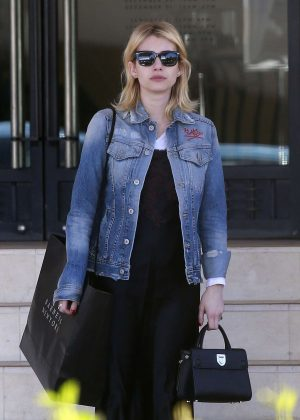 Emma Roberts - Leaving Barneys New York in Beverly Hills