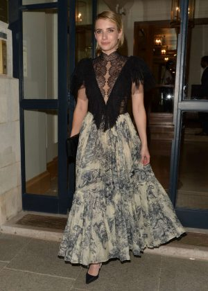 Emma Roberts - Leaving Dior Dinner in Paris