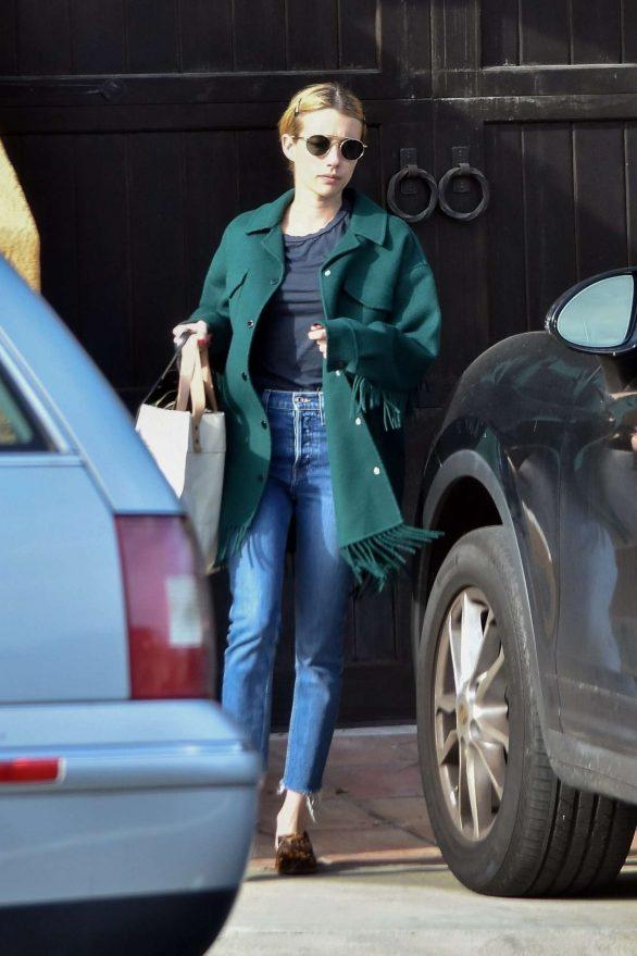 Emma Roberts - Leaving her boyfriend's house in Los Feliz