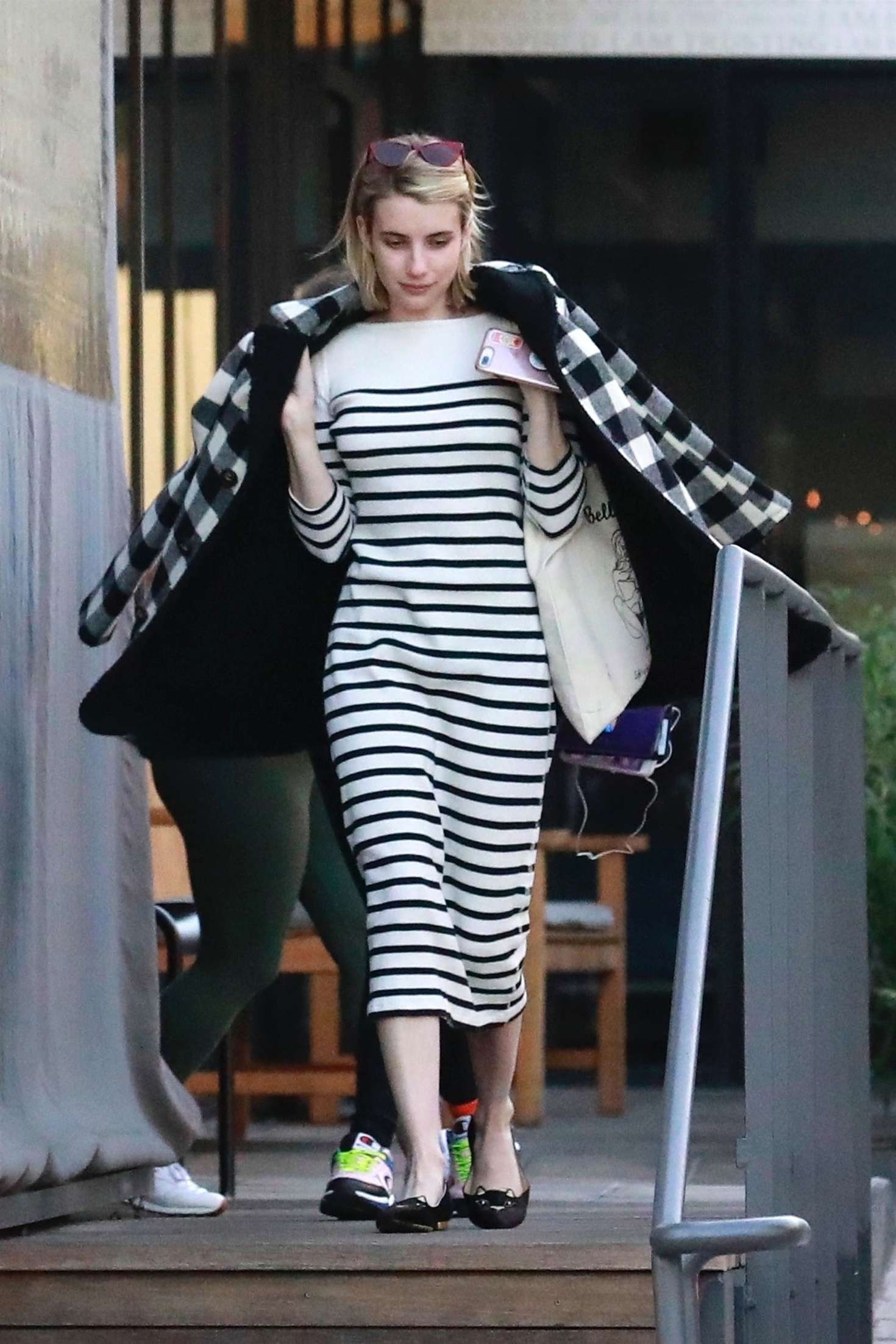 Emma Roberts - Leaving her friend's house in Los Angeles