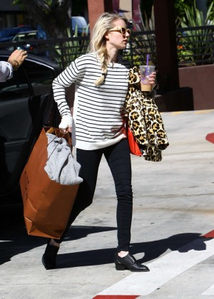Emma Roberts in Leggings Leaving her home in LA