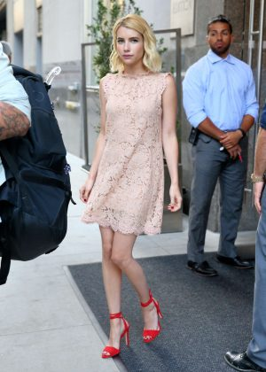 Emma Roberts - Leaving her hotel in New York City