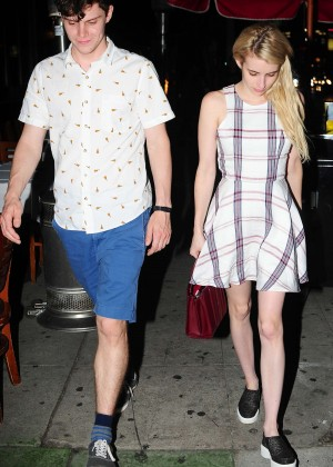 Emma Roberts - Leaving Izakaya Restaurant in West Hollywood
