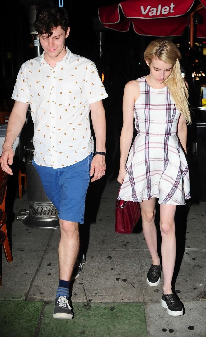 Emma Roberts - Leaving Izakaya Restaurant in West Hollywood