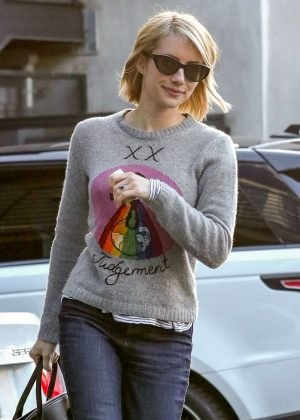 Emma Roberts - Leaving Nine Zero One Salon in West Hollywood