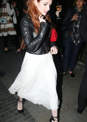 Emma Roberts - Leaving the Audley pub in London