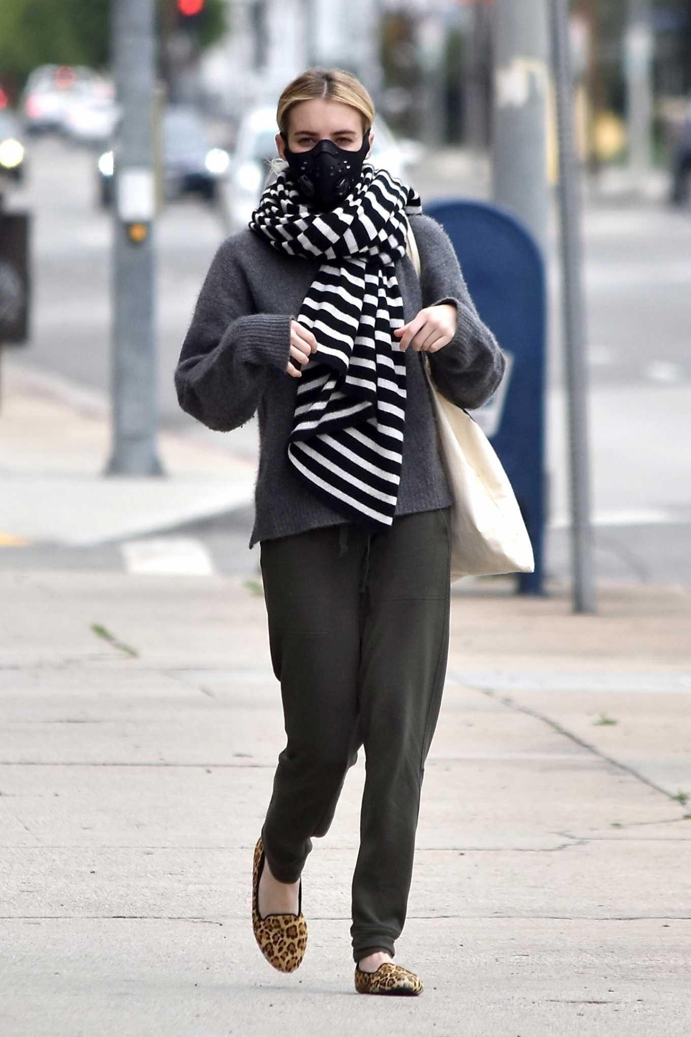 Emma Roberts 2020 : Emma Roberts makes a trip to a Medical Center-07