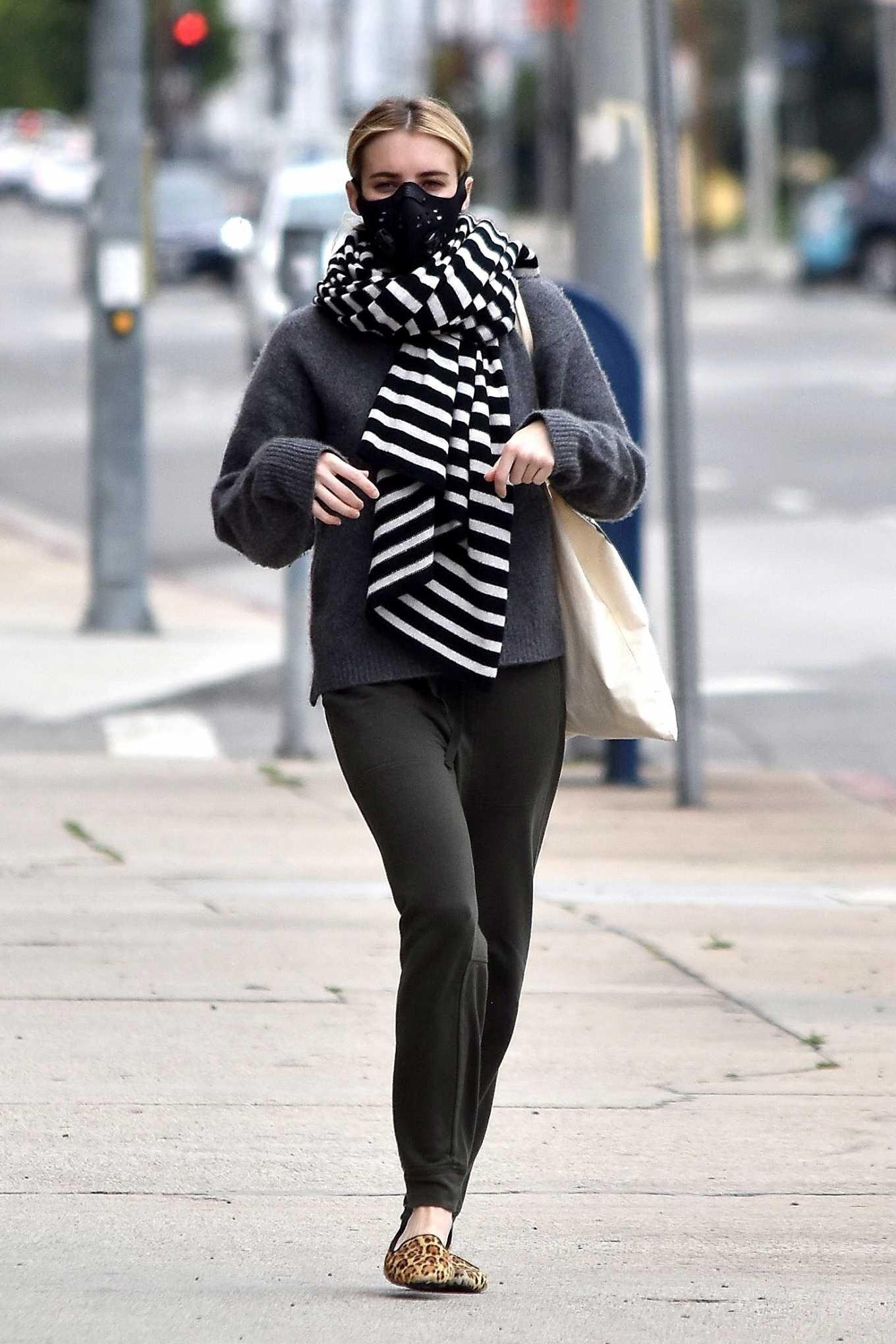 Emma Roberts 2020 : Emma Roberts makes a trip to a Medical Center-15