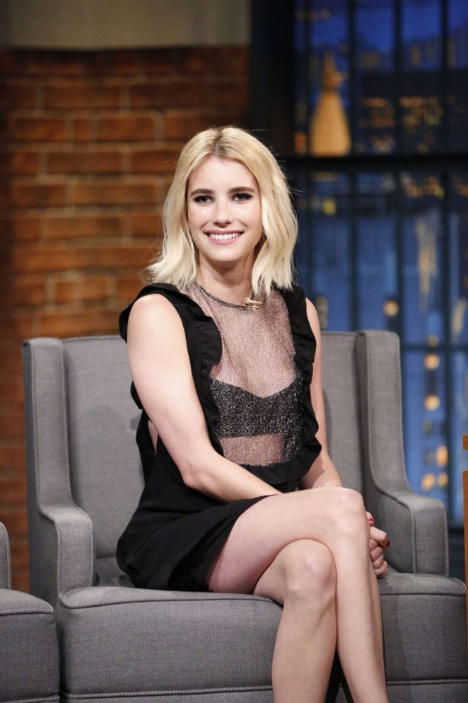 Emma Roberts on 'Late Night with Seth Meyers' in New York City