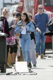 Emma Roberts - On set of 'American Horror Story 1984' in Los Angeles