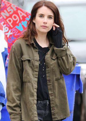 Emma Roberts on set of 'Little Italy' in Toronto