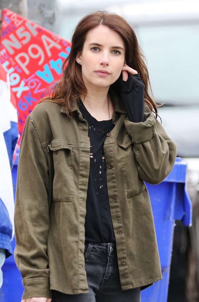 Emma Roberts on set of 'Little Italy' in Toronto