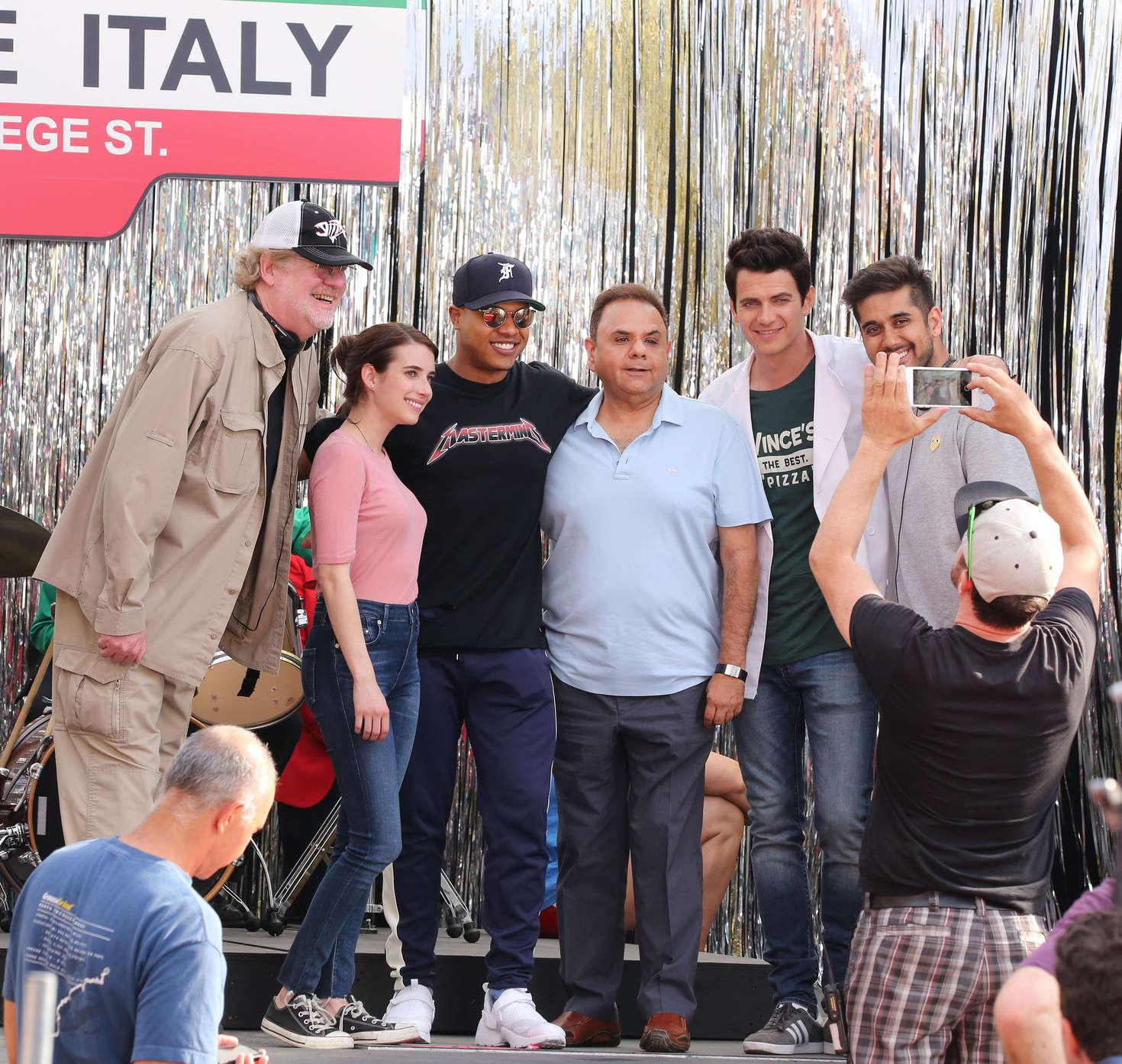 Emma Roberts 2017 : Emma Roberts on the set of Little Italy -13
