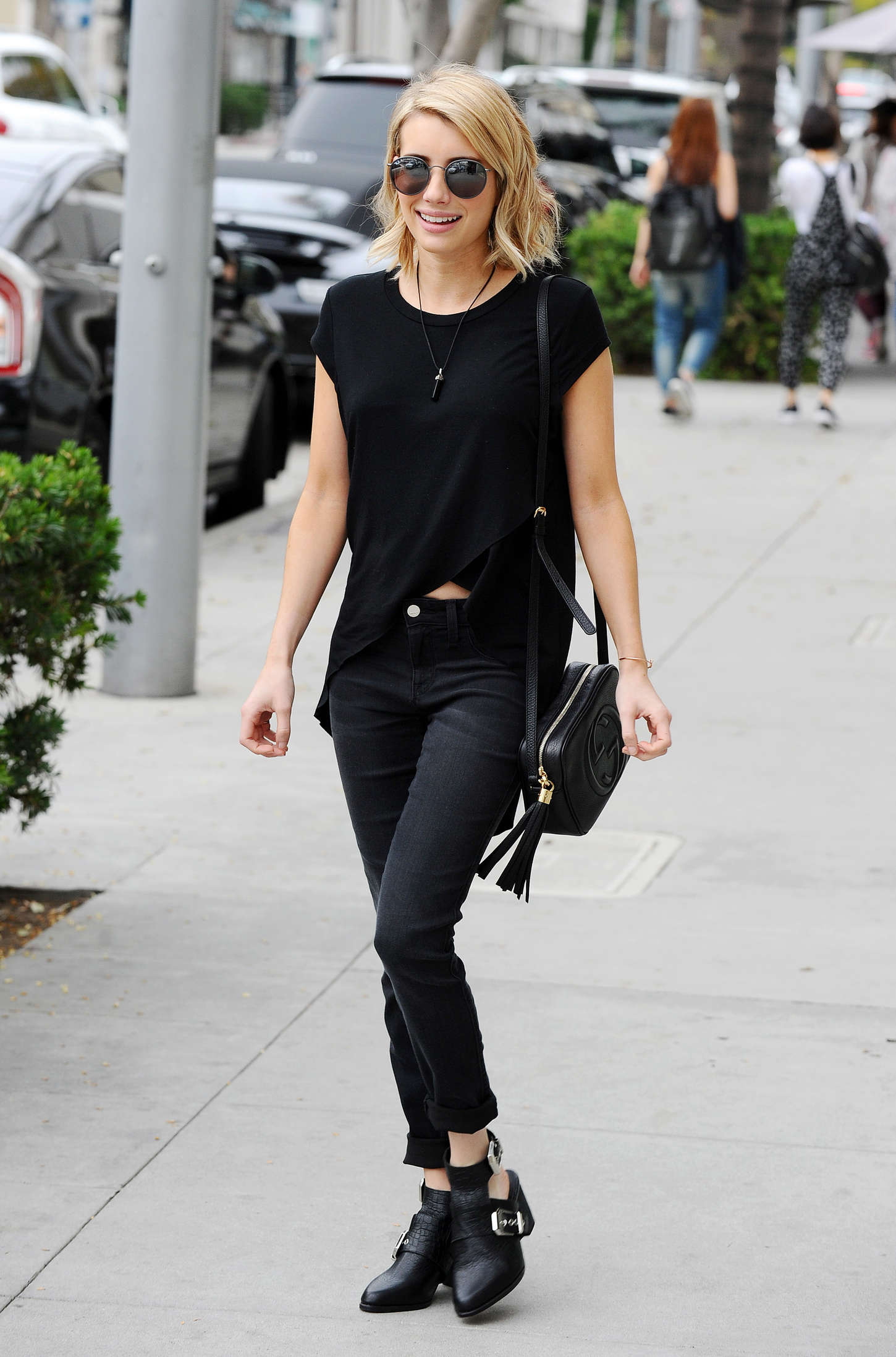 Emma Roberts in Black -02