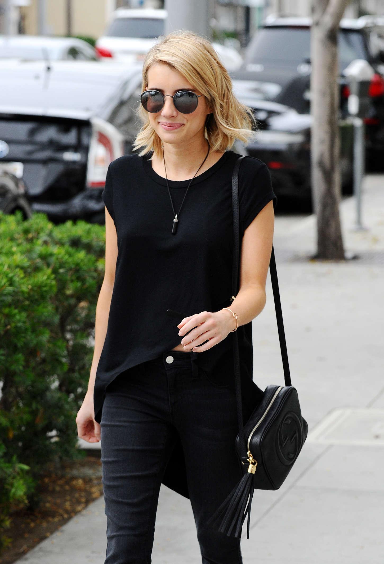 Emma Roberts 2015 : Emma Roberts in Black -05