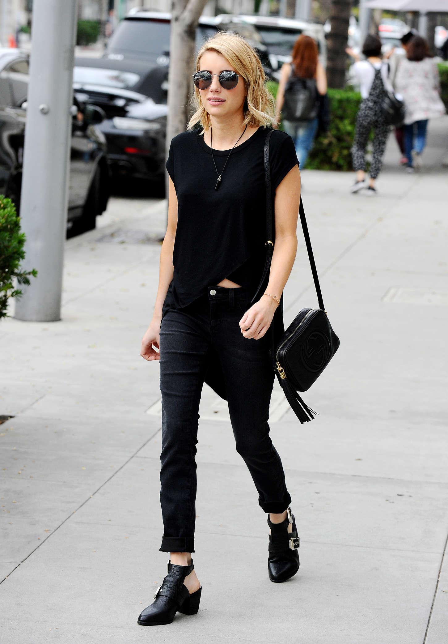 Emma Roberts 2015 : Emma Roberts in Black -16