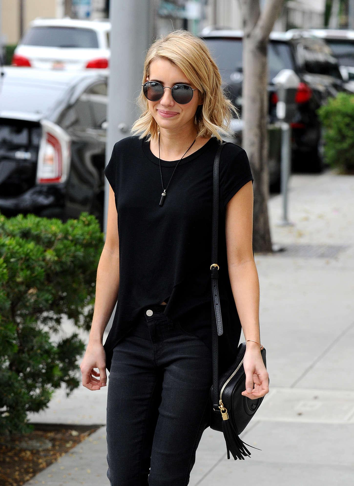 Emma Roberts 2015 : Emma Roberts in Black -18