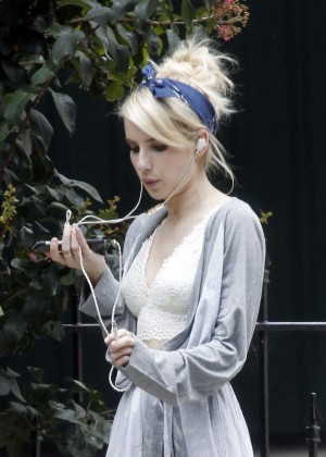 Emma Roberts - Out and about in New Orleans