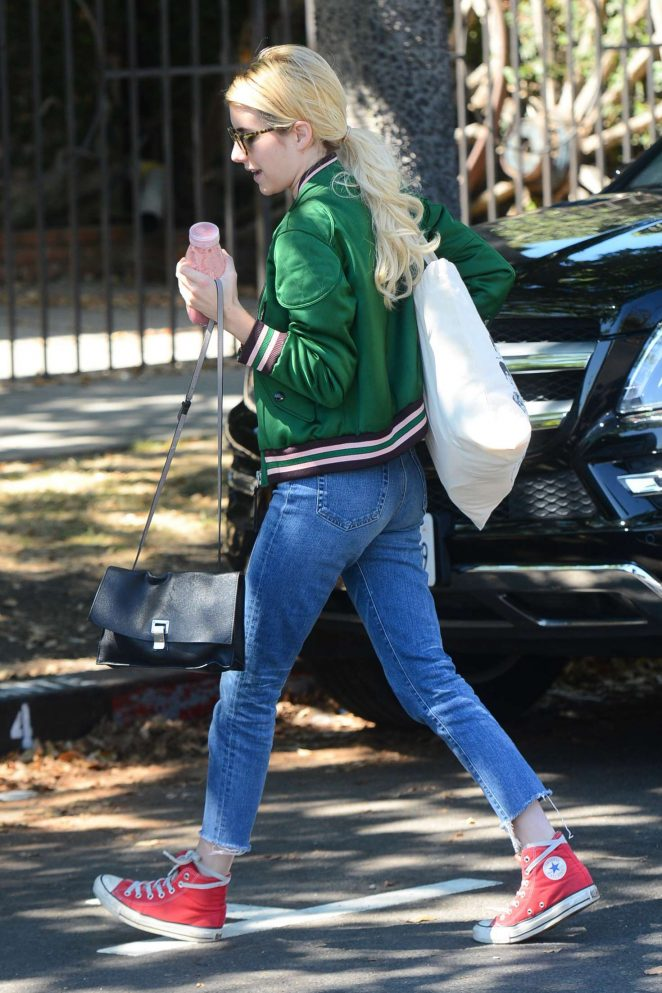 Emma Roberts in Jeans out in West Hollywood