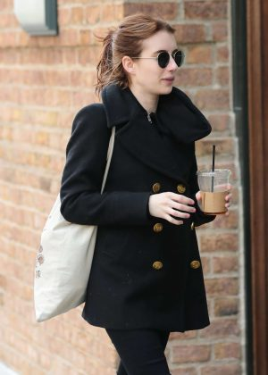 Emma Roberts out and about Tribeca in New York