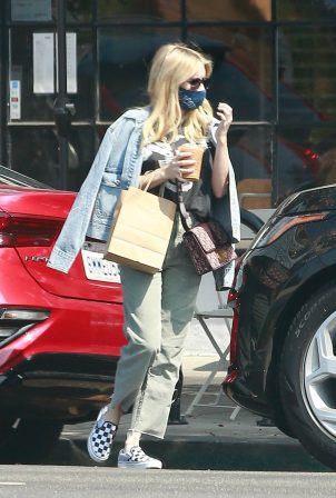 Emma Roberts - Out for a iced drink in Los Angeles