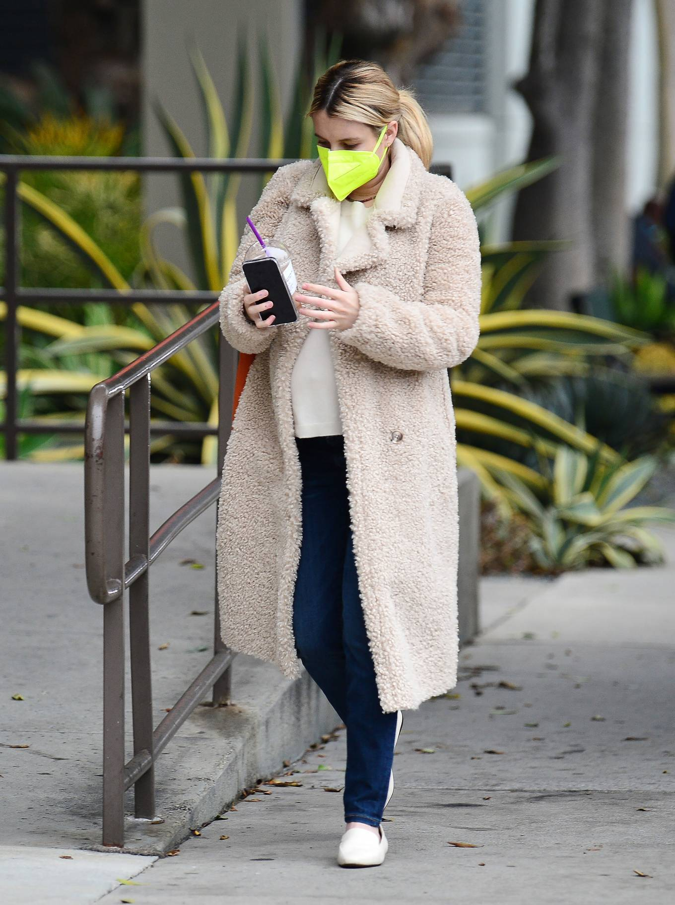Emma Roberts - Out for coffee in Los Angeles
