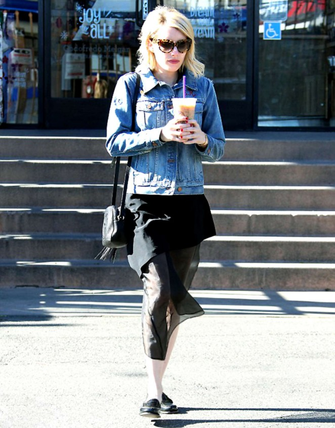 Emma Roberts - Out for coffee in West Hollywood