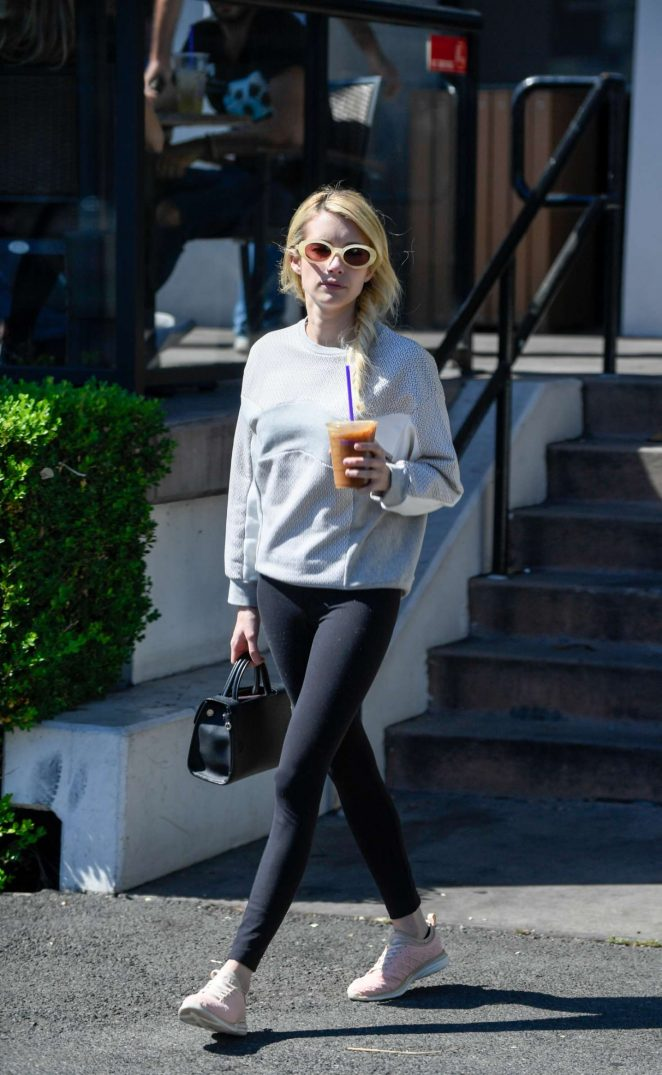 Emma Roberts out for lunch at Musso and Frank Grill in Hollywood