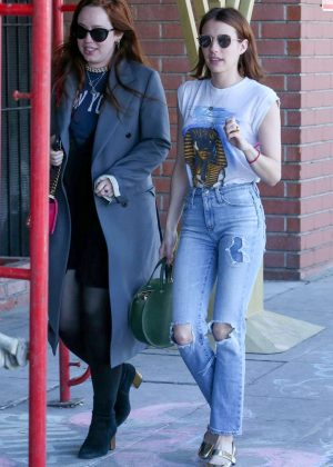 Emma Roberts - Out for lunch in Los Angeles
