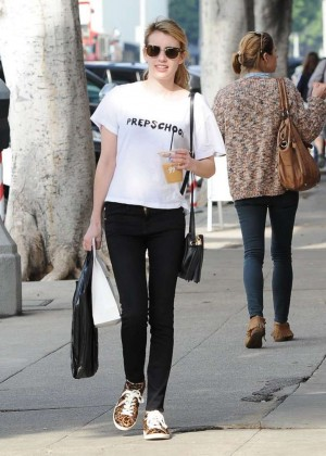 Emma Roberts in Tight Jeans out in West Hollywood