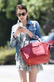 Emma Roberts - outing in Los Feliz