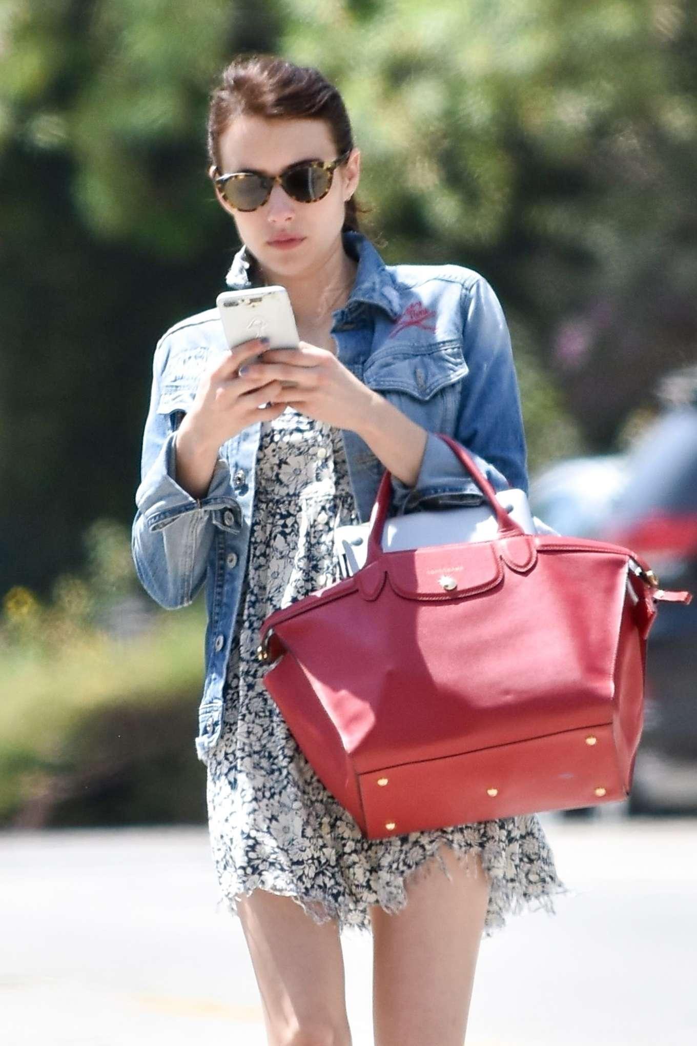 Emma Roberts - outing in Los Feliz