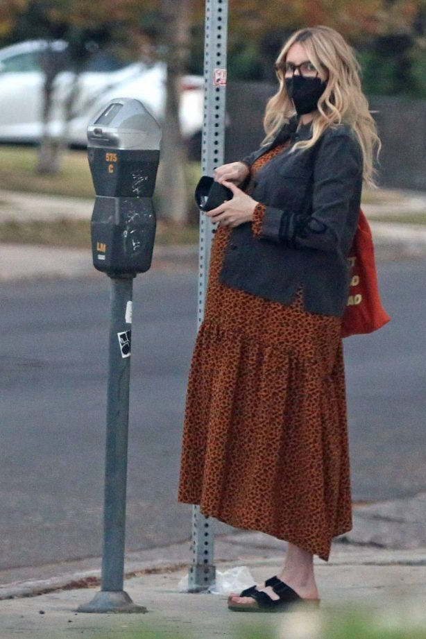 Emma Roberts - Rocks a leopard print dress in Los Angeles