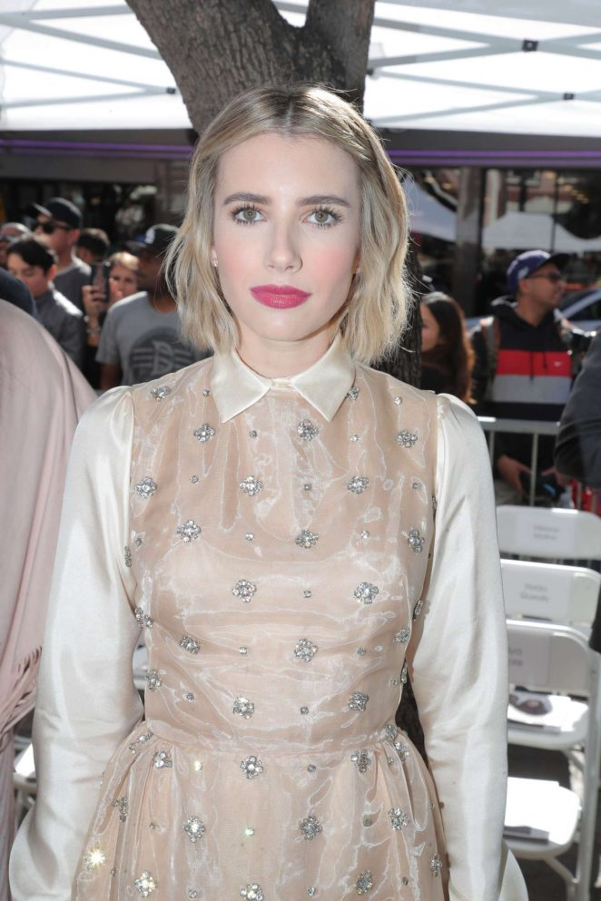 Emma Roberts - Ryan Murphy's Walk of Fame Hollywood Star Ceremony in LA