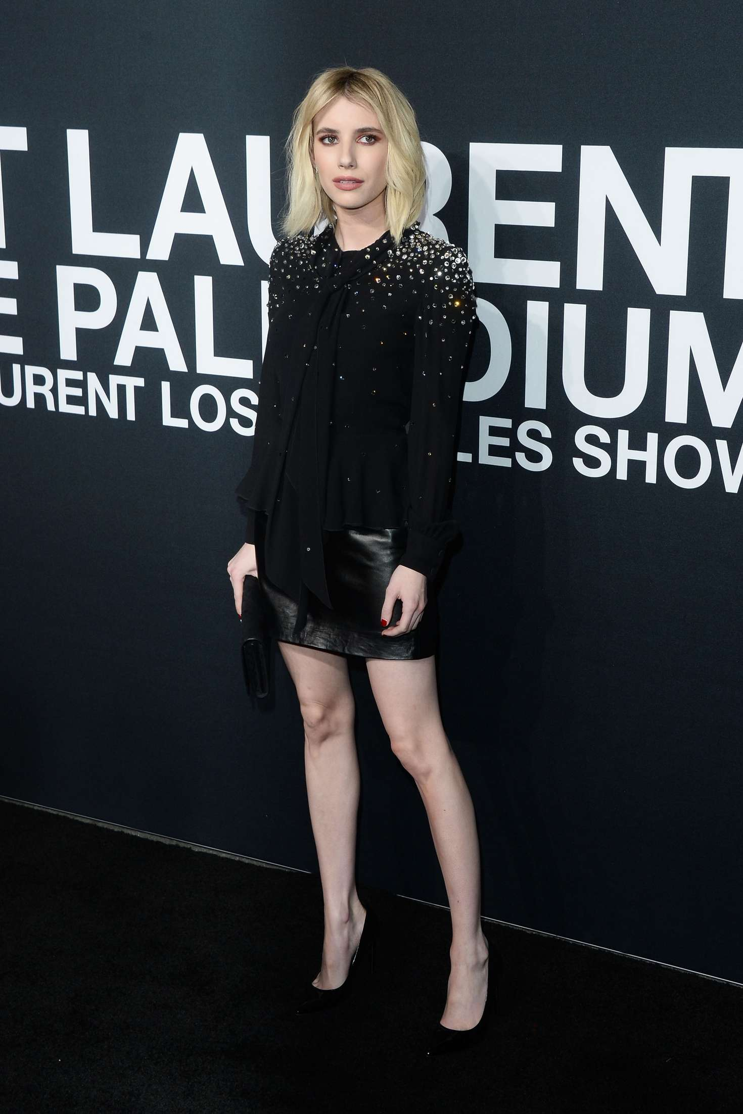 Emma Roberts - Saint Laurent Show in Los Angeles