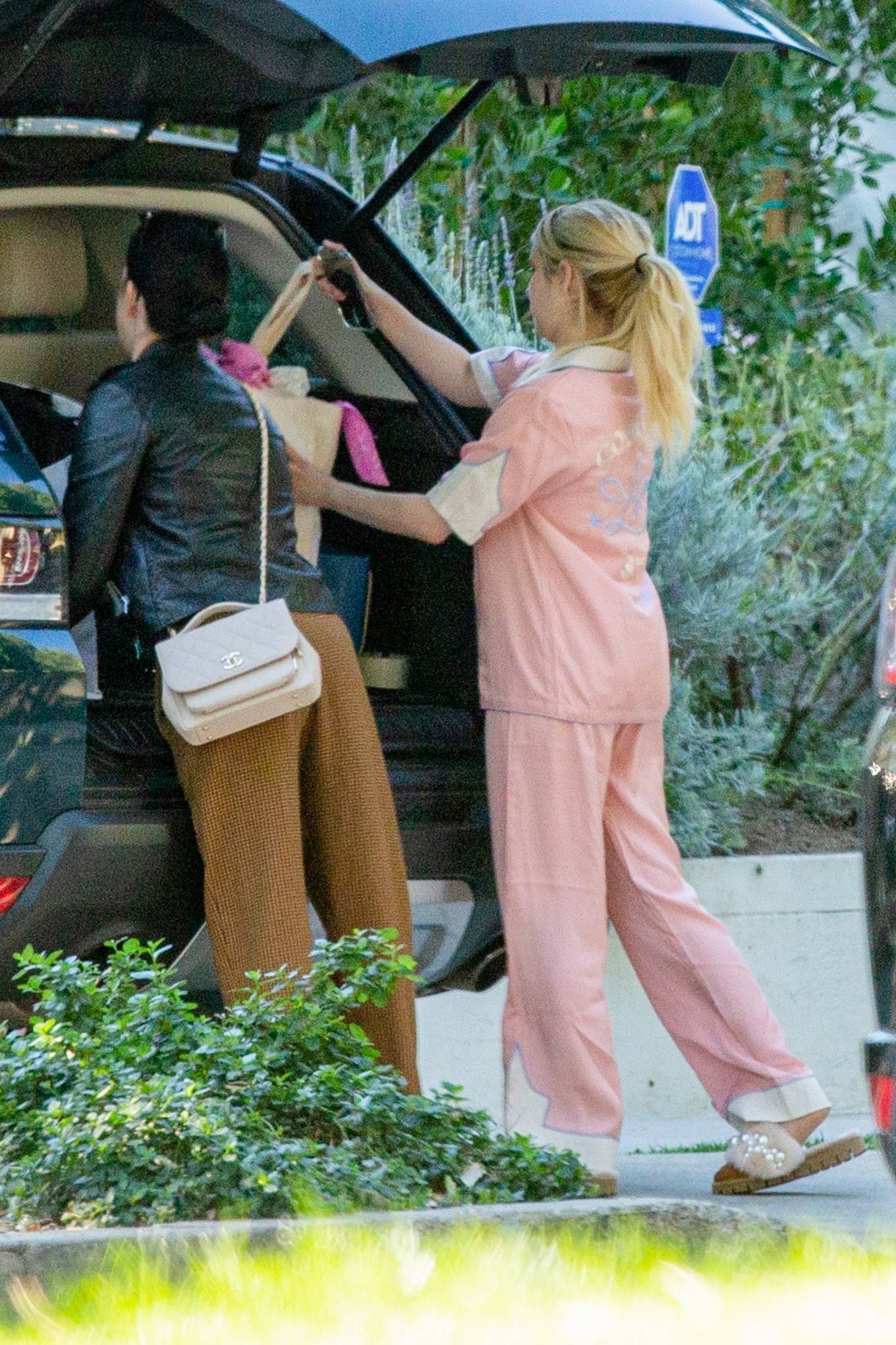 Emma Roberts - Seen at her home in Los Angeles