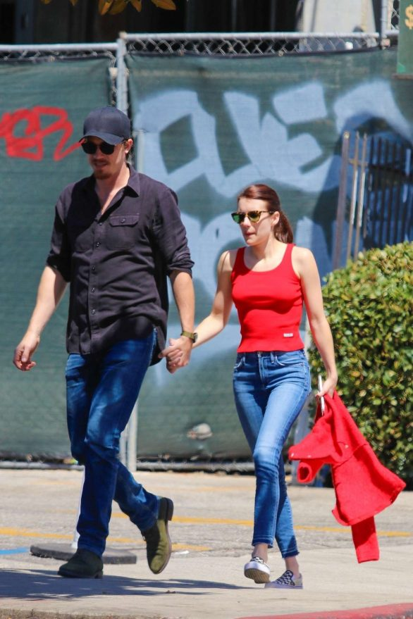 Emma Roberts - Seen holding hands with her boyfriend in Hollywood