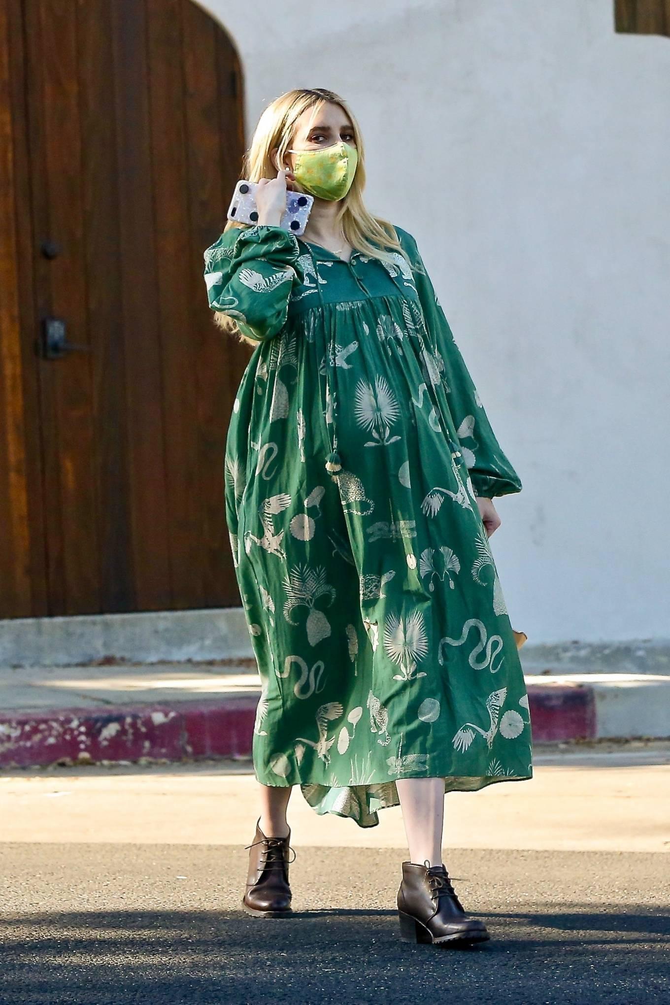 Emma Roberts 2020 : Emma Roberts – Seen while leaves her home in Los Feliz-02