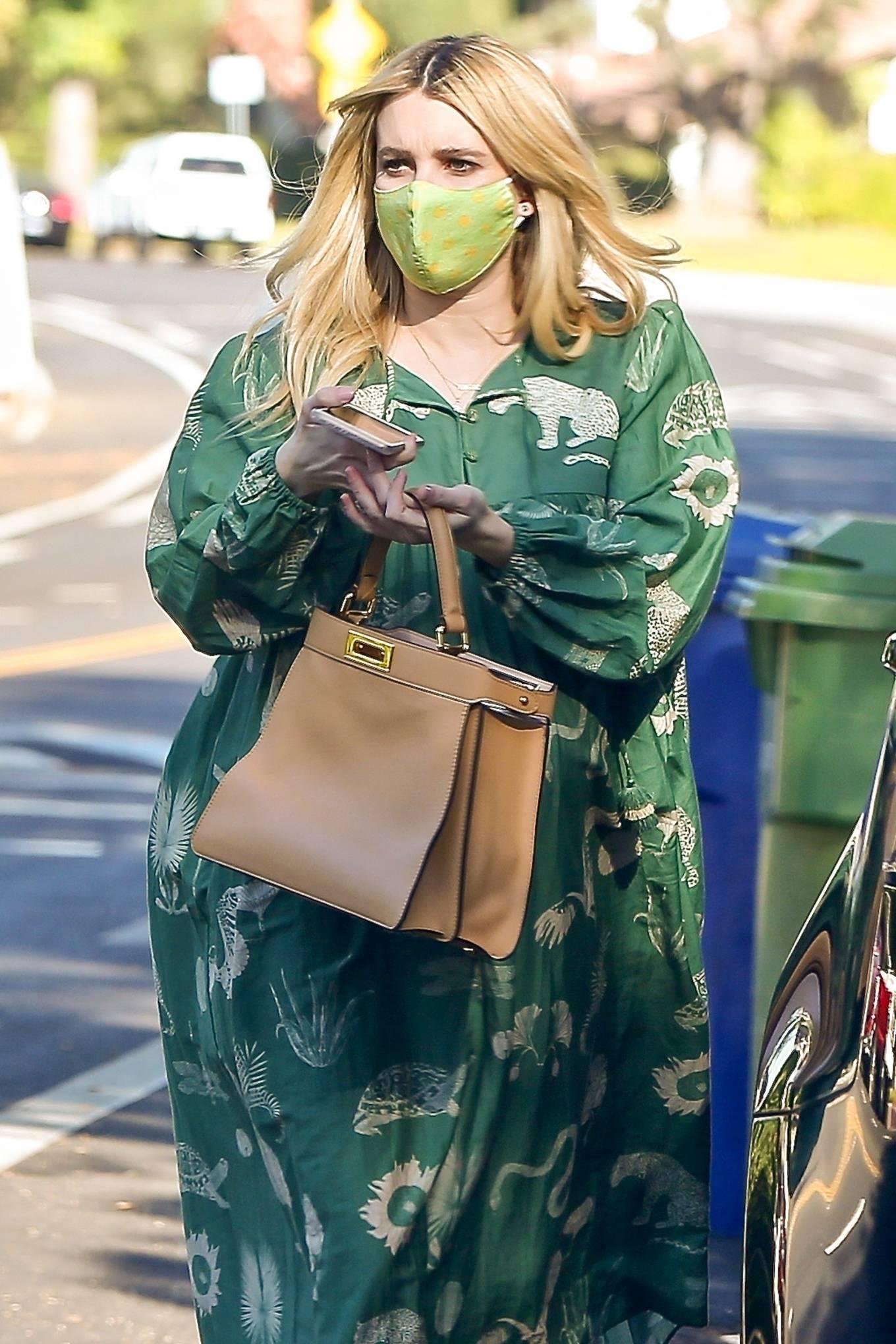 Emma Roberts 2020 : Emma Roberts – Seen while leaves her home in Los Feliz-03