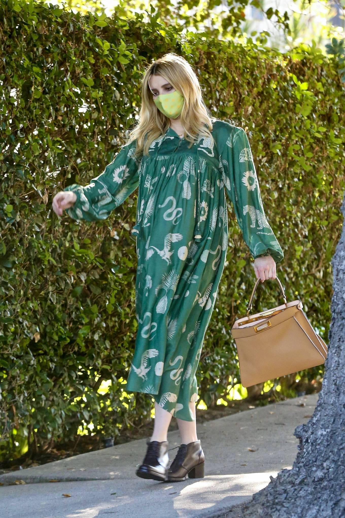 Emma Roberts 2020 : Emma Roberts – Seen while leaves her home in Los Feliz-06