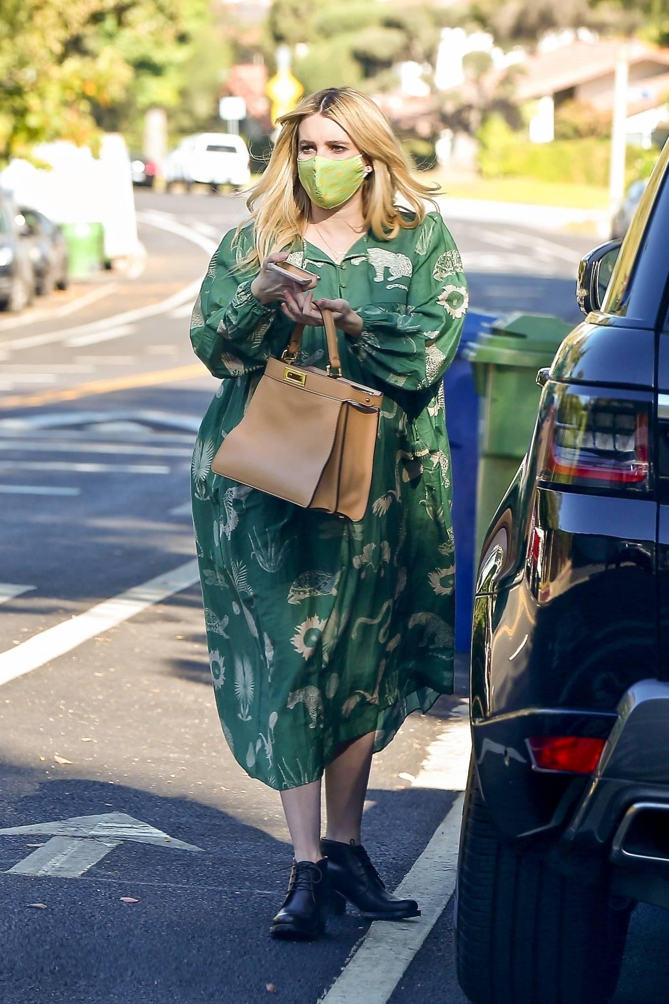 Emma Roberts 2020 : Emma Roberts – Seen while leaves her home in Los Feliz-07