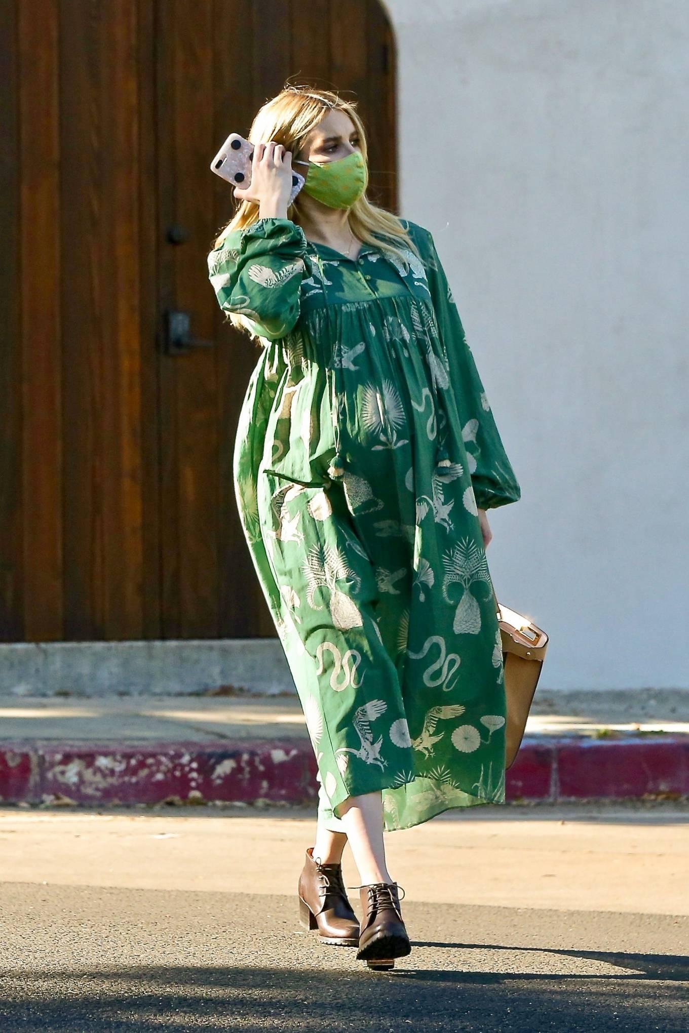 Emma Roberts 2020 : Emma Roberts – Seen while leaves her home in Los Feliz-09