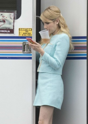 Emma Roberts - Set of 'Scream Queens' in New Orleans